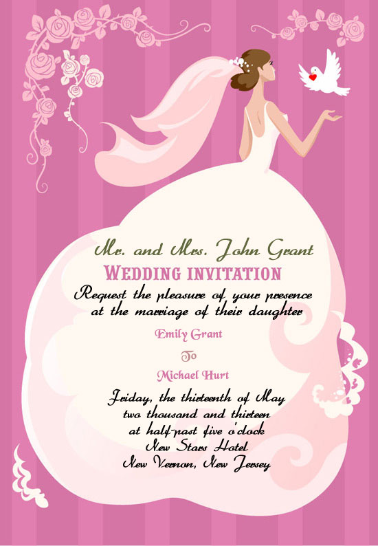 wedding invitation - Wedding Invitation Wording Etiquette