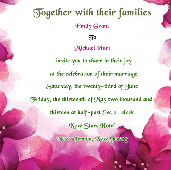 Inviting For Marriage Wordings as luxury invitation template