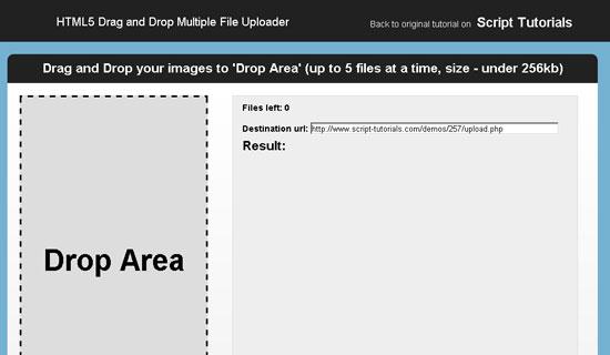 HTML5 Drag And Drop Multiple File Uploader
