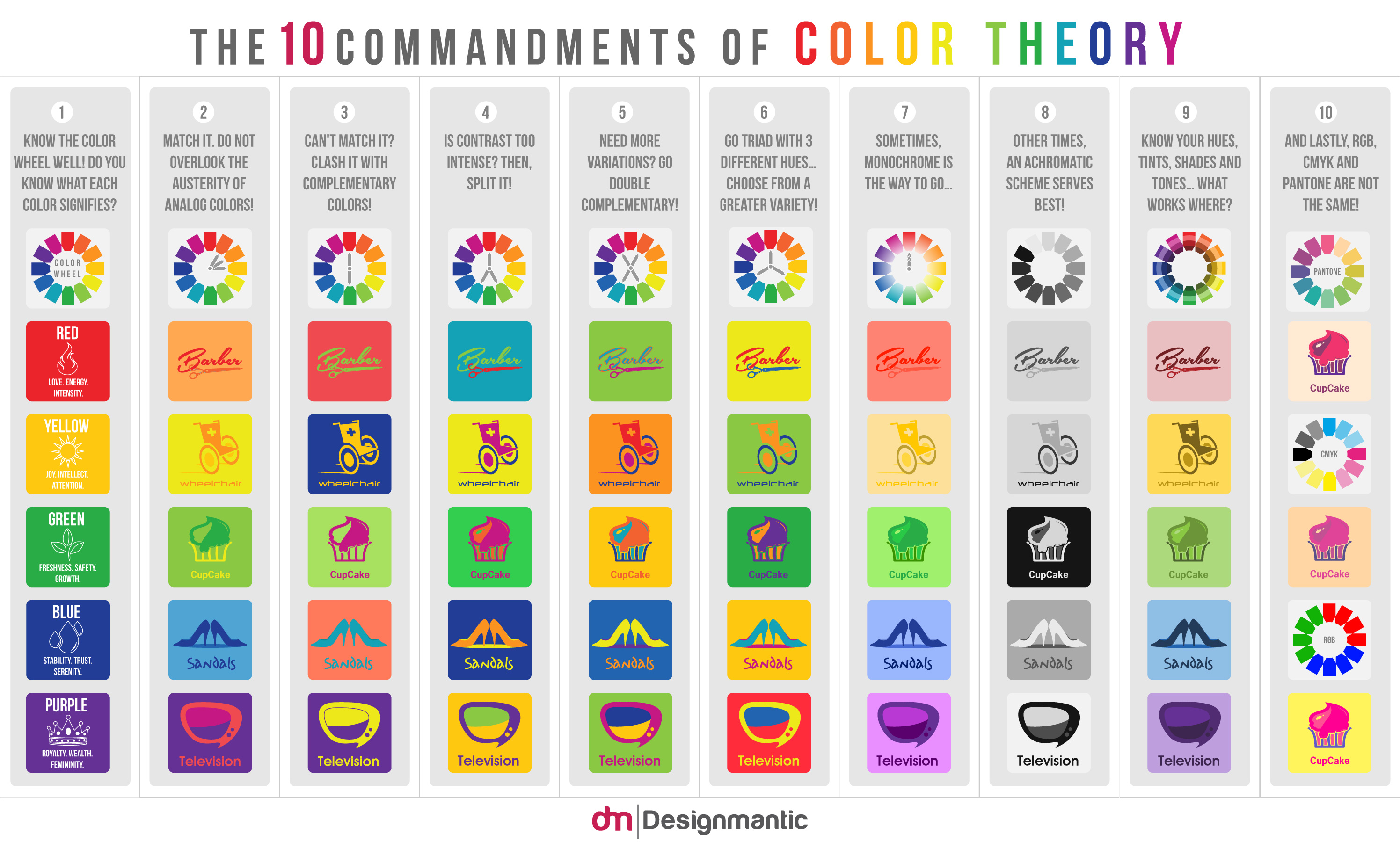 Color Theory Inforgrphic