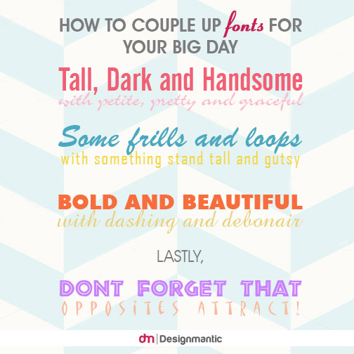 How to Couple Up Fonts for Your Big Day