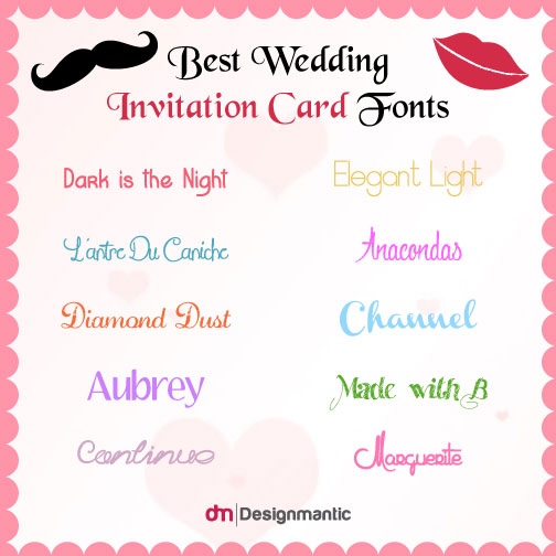 What are the Best Wedding Invitation Card Fonts?