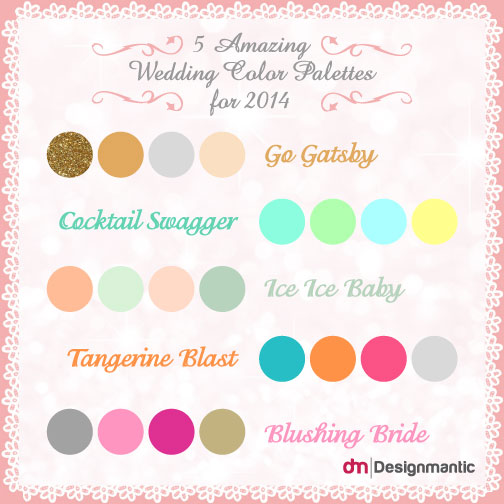 Which Wedding Color Palettes can Work Wonders this Year?