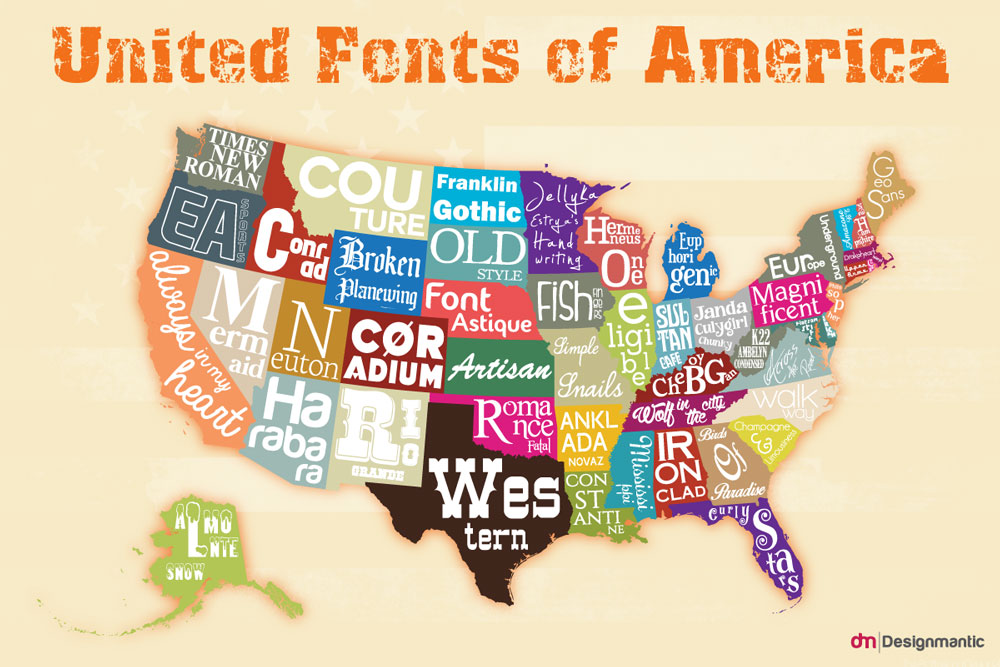 [INFOGRAPHIC]: The United Fonts of America