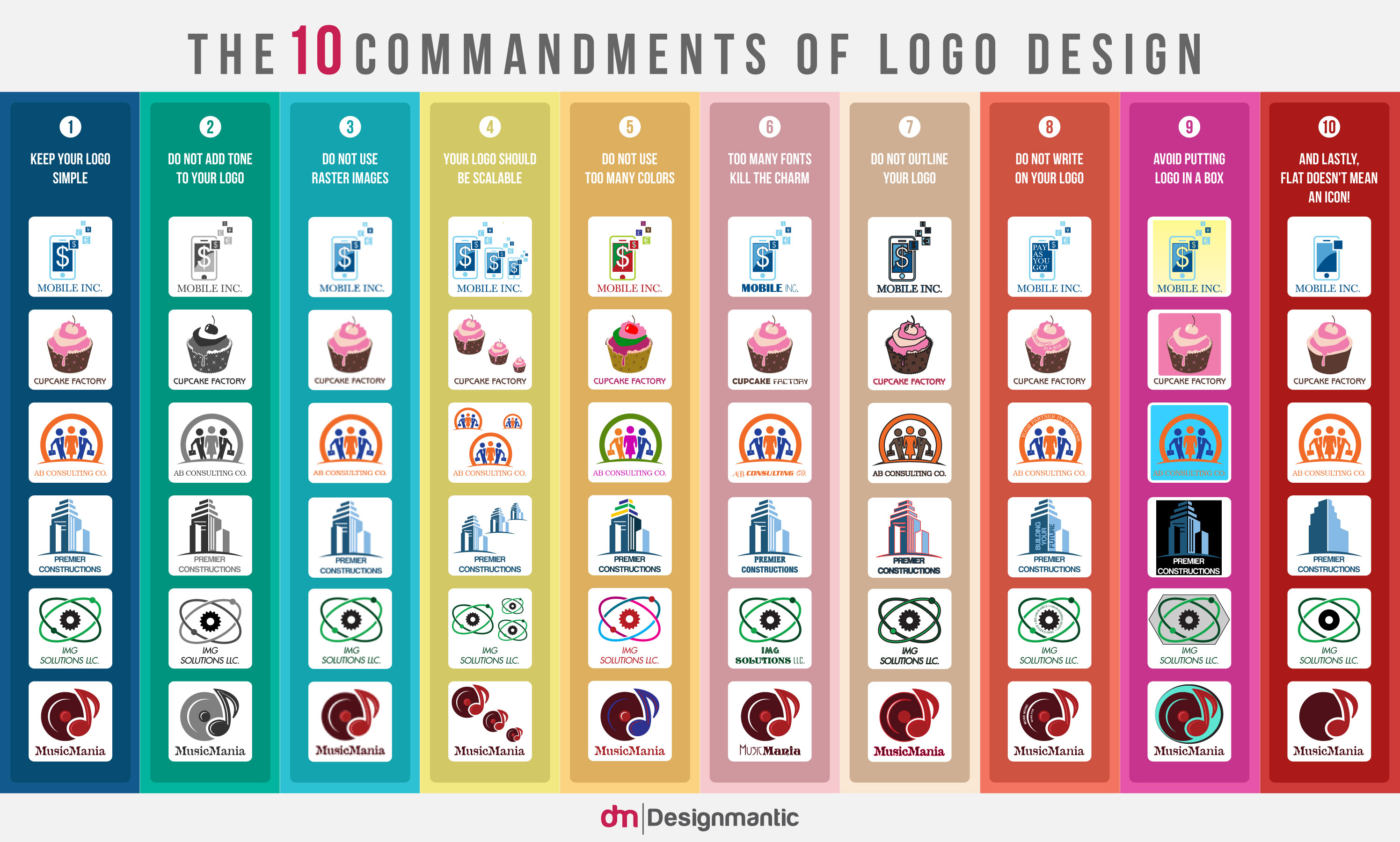 [INFOGRAPHIC]: 10 Commandments of Logo Design