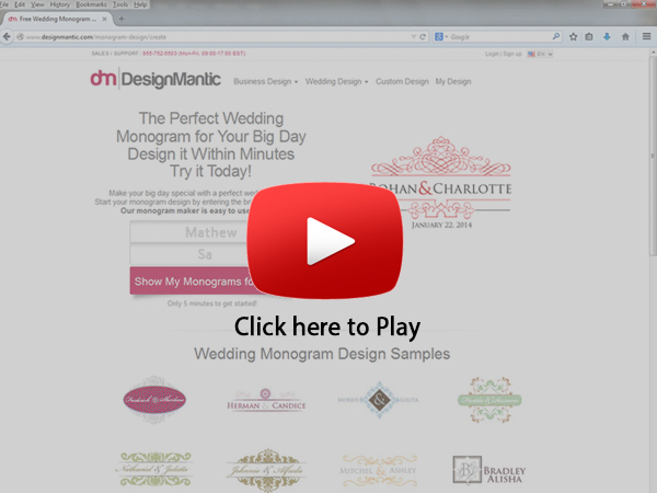 Create Wedding Monogram in 2 Mins
