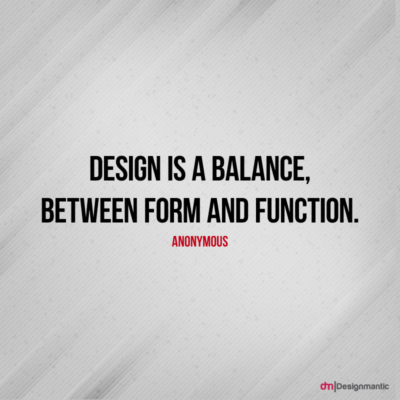 Design is a Balance