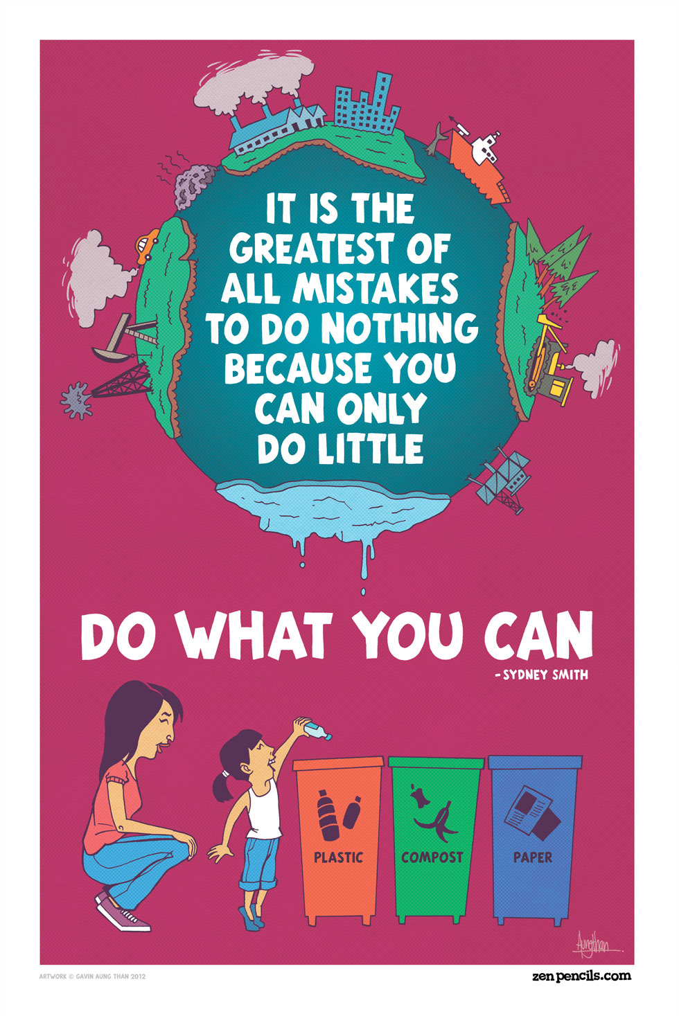 Poster design environmental issues - Zenpencils