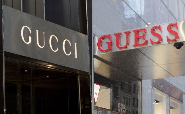 Gucci vs Guess Logo