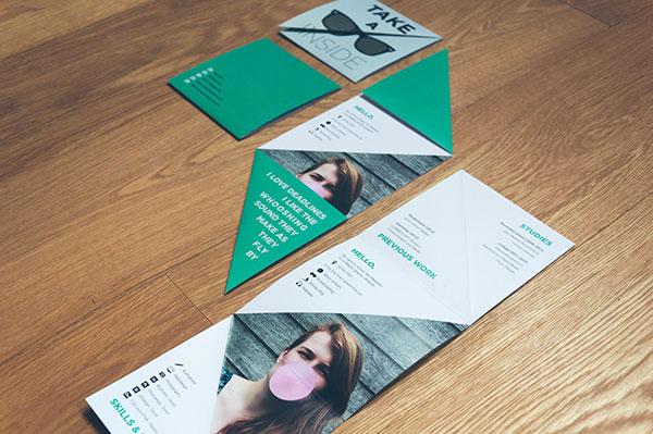 Folded Resume Design