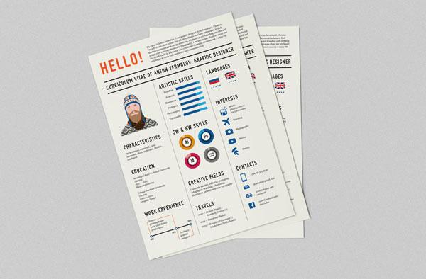 Newspaper inspired Resume Design