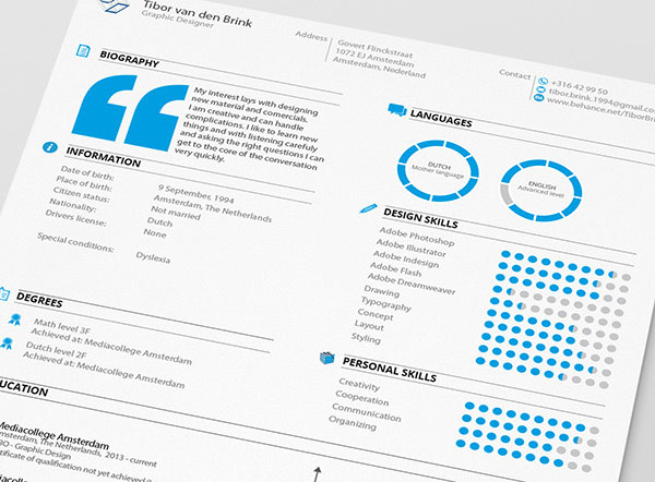 Crisp, Clear and Pictographic Resume