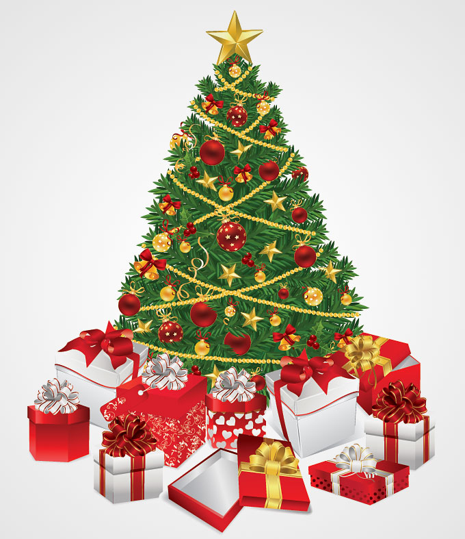 Christmas Tree Full Of Gifts