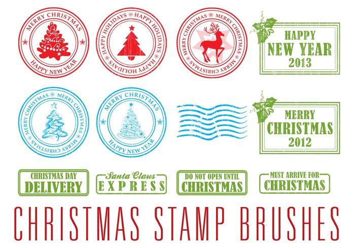 Xmas Stamp Brushes