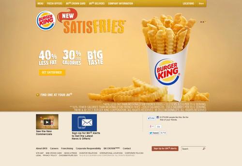 Burger King Restaurant Web Design
