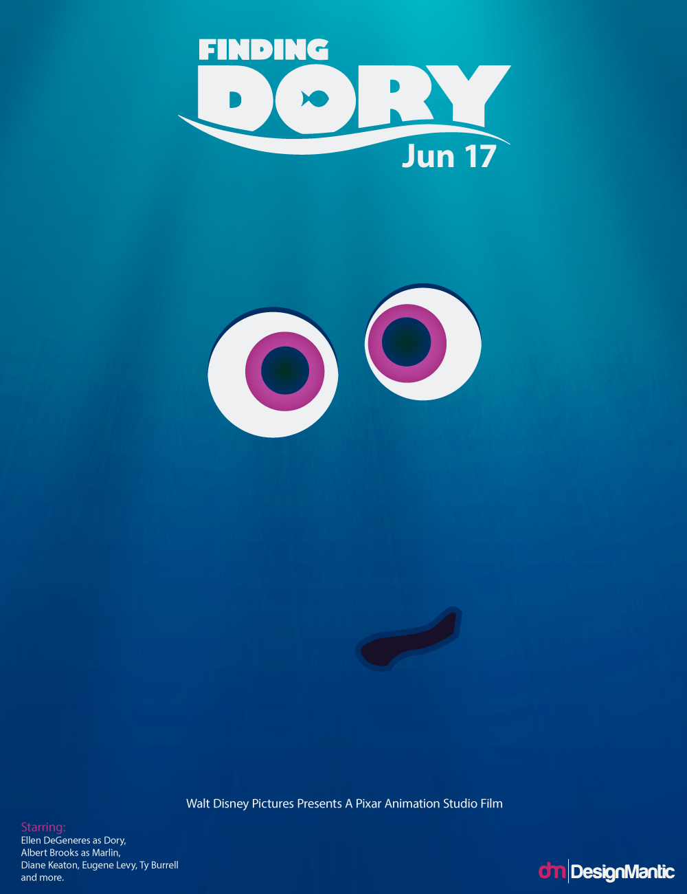 Poster design 2016 - Finding Dory