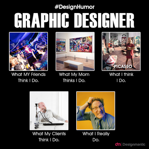 How people see graphic designers...