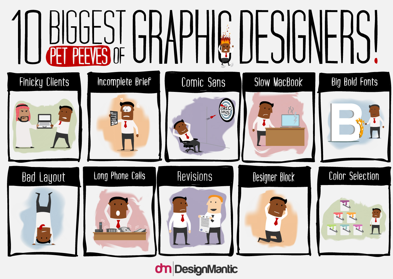 10 blood boiling pet peeves that every graphic designer faces