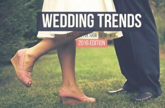 Wedding Trends 2016 Edition