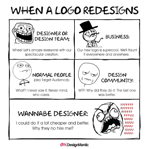 When logo redesigns...