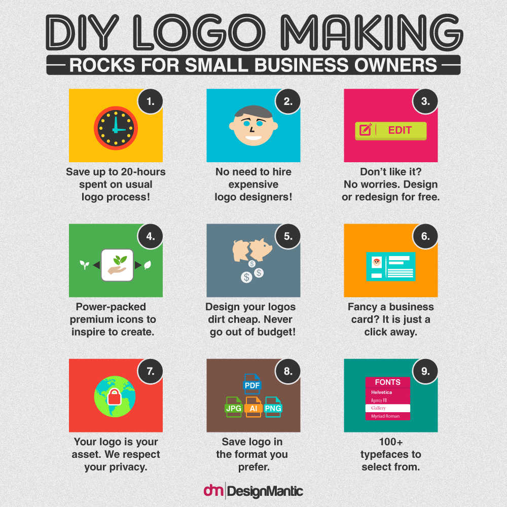 Diy logo maker is what smbs need designmantic the design shop logo maker reheart Image collections