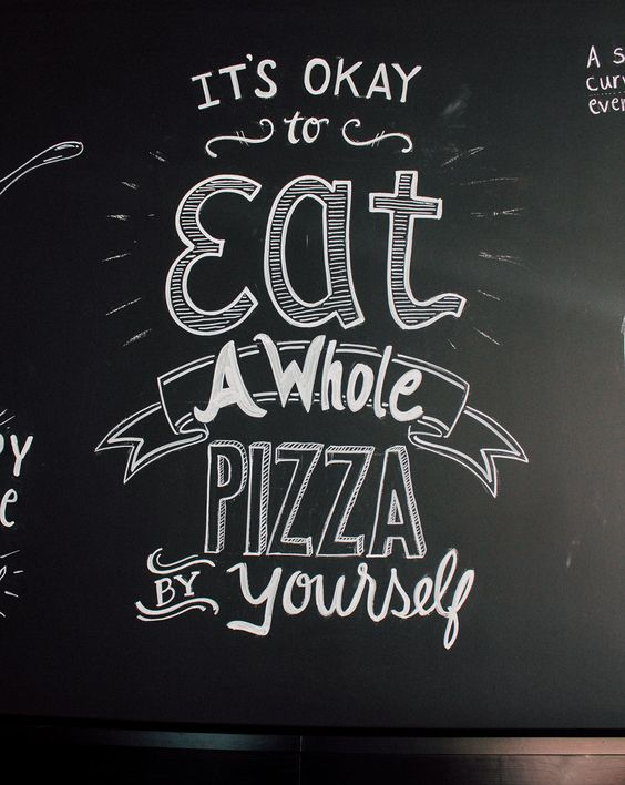 TJ's Woodfire Pizza Chalk Wall