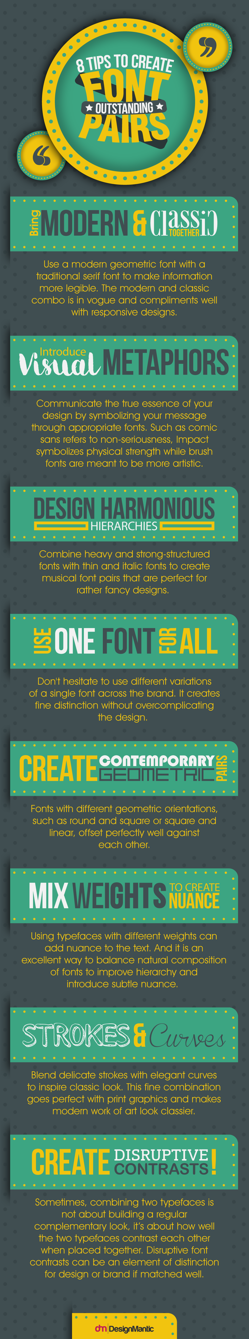 8 Tips to Create Outstanding Font Pairs