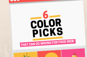 6 color mistakes on food web