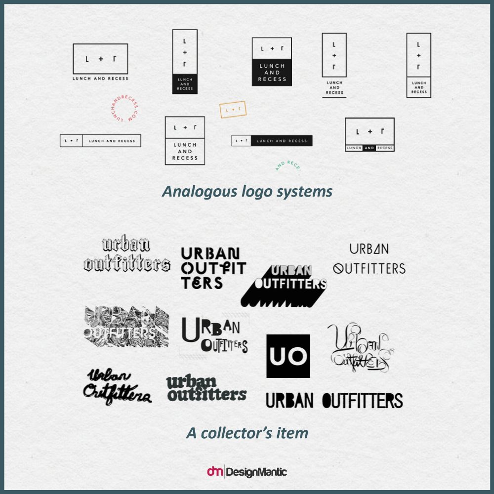 Analogous Logo System vs. Collector's Items