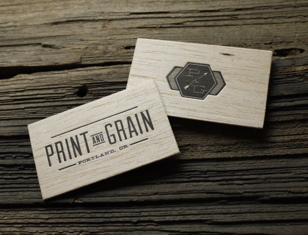 18 clever smb business cards designmantic the design shop print and grain reheart Gallery
