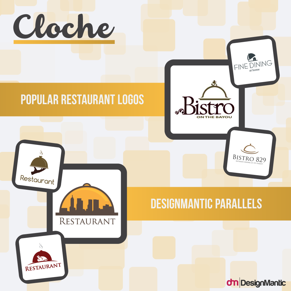 Restaurant logo branding guide designmantic the design shop restaurant logos cloche buycottarizona Image collections