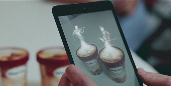 Haagen Dazs Concerto Timer Augmented Reality App
