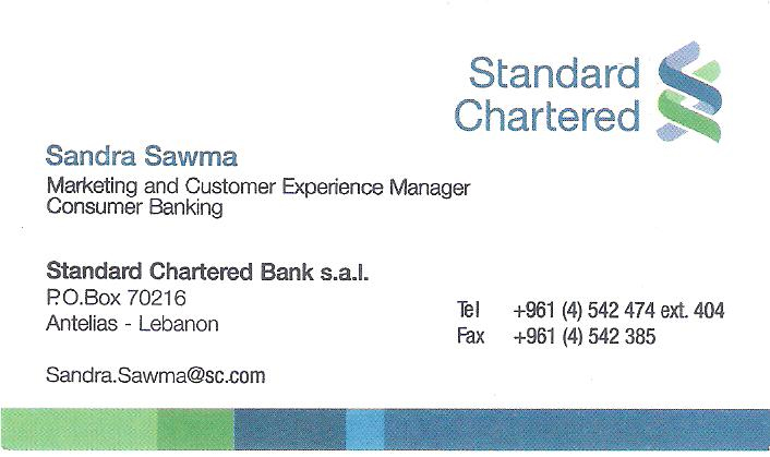 Branding your bank right designmantic the design shop standard chartered bank business card reheart Image collections
