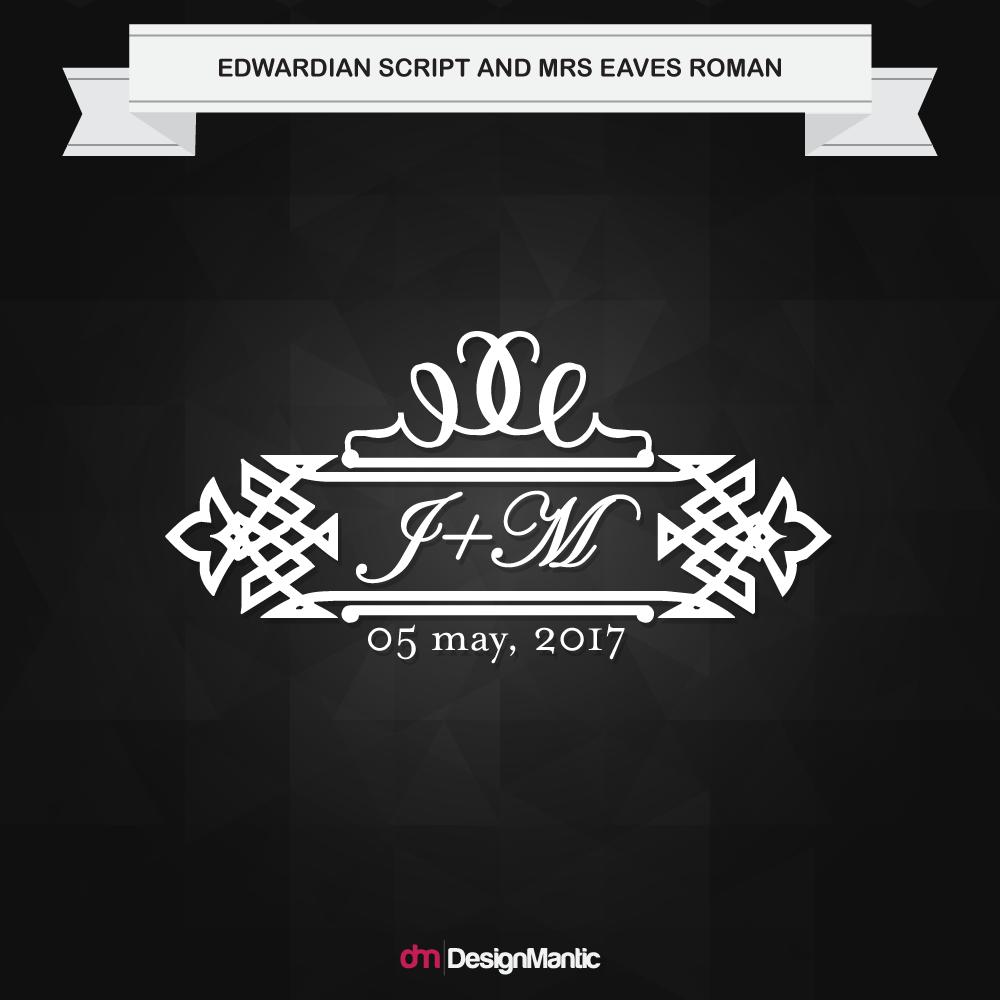 wedding monogram font pairing 1