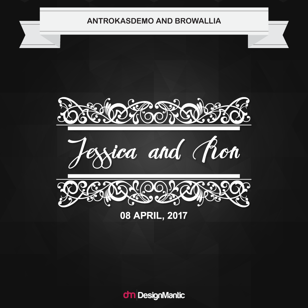 wedding monogram font pairing 8
