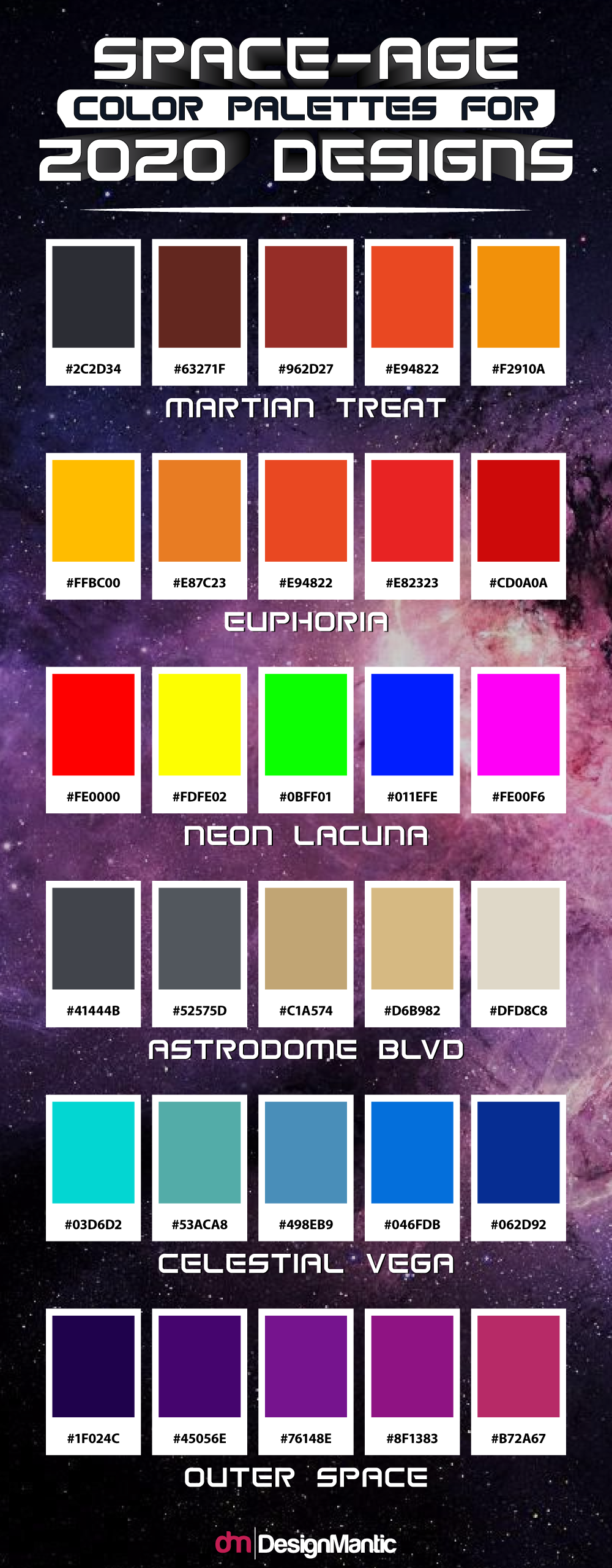 space color palette