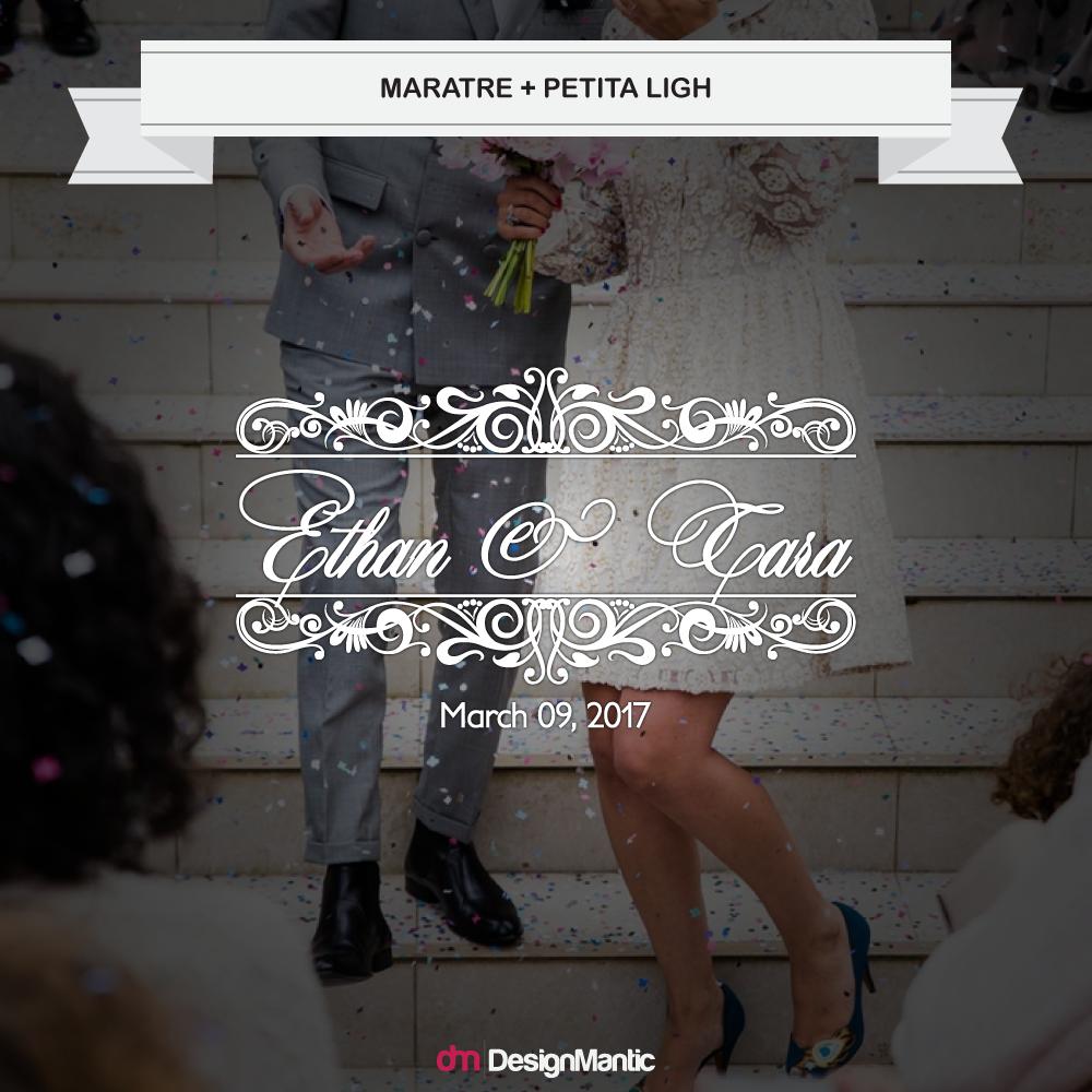 wedding monogram font pairing 2