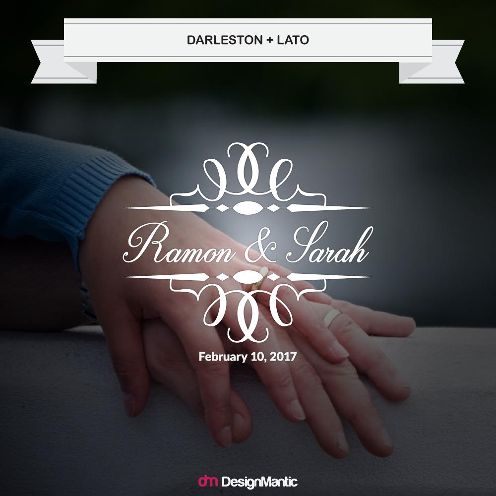 wedding monogram font pairing 3