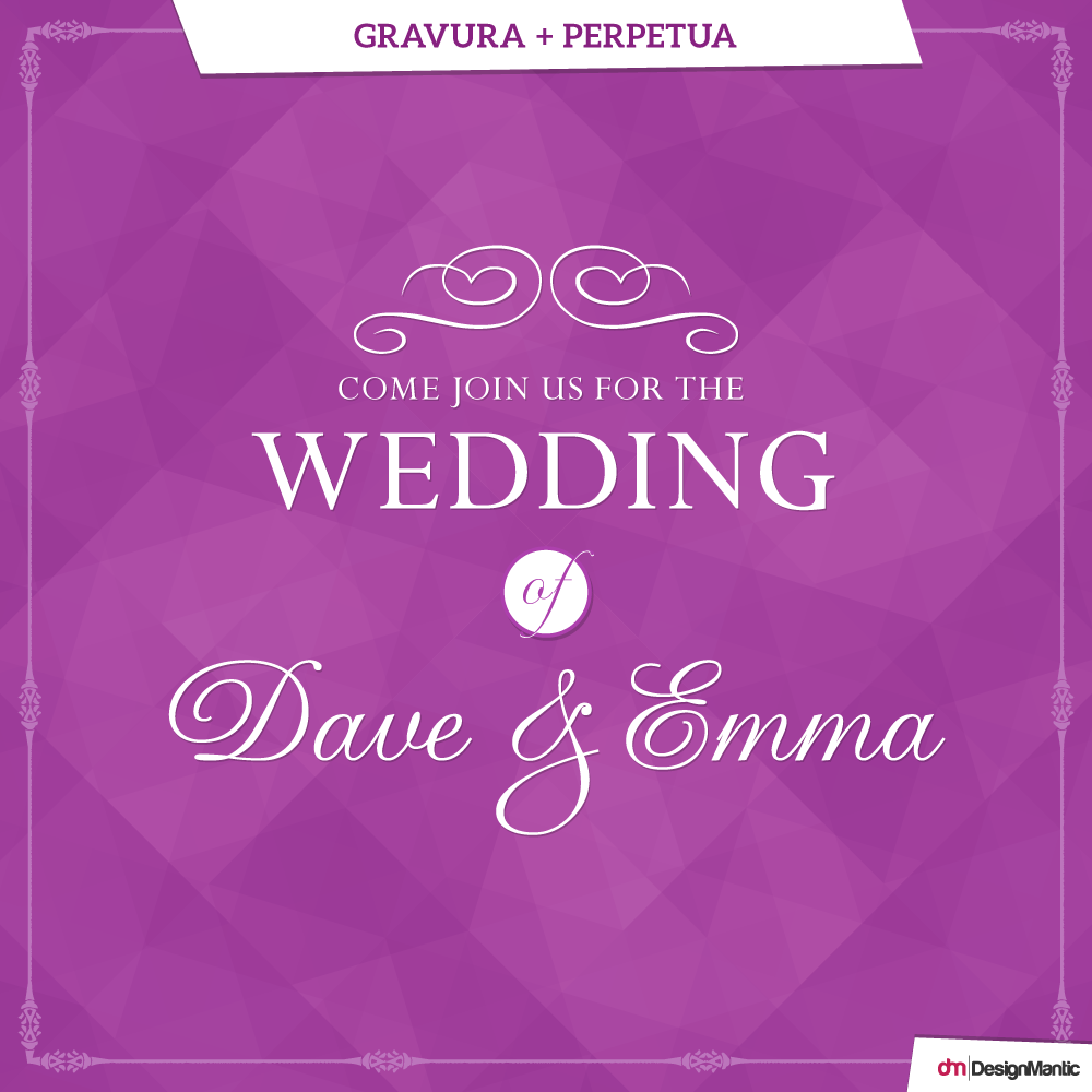 Wedding Font Pairings | DesignMantic: The Design Shop