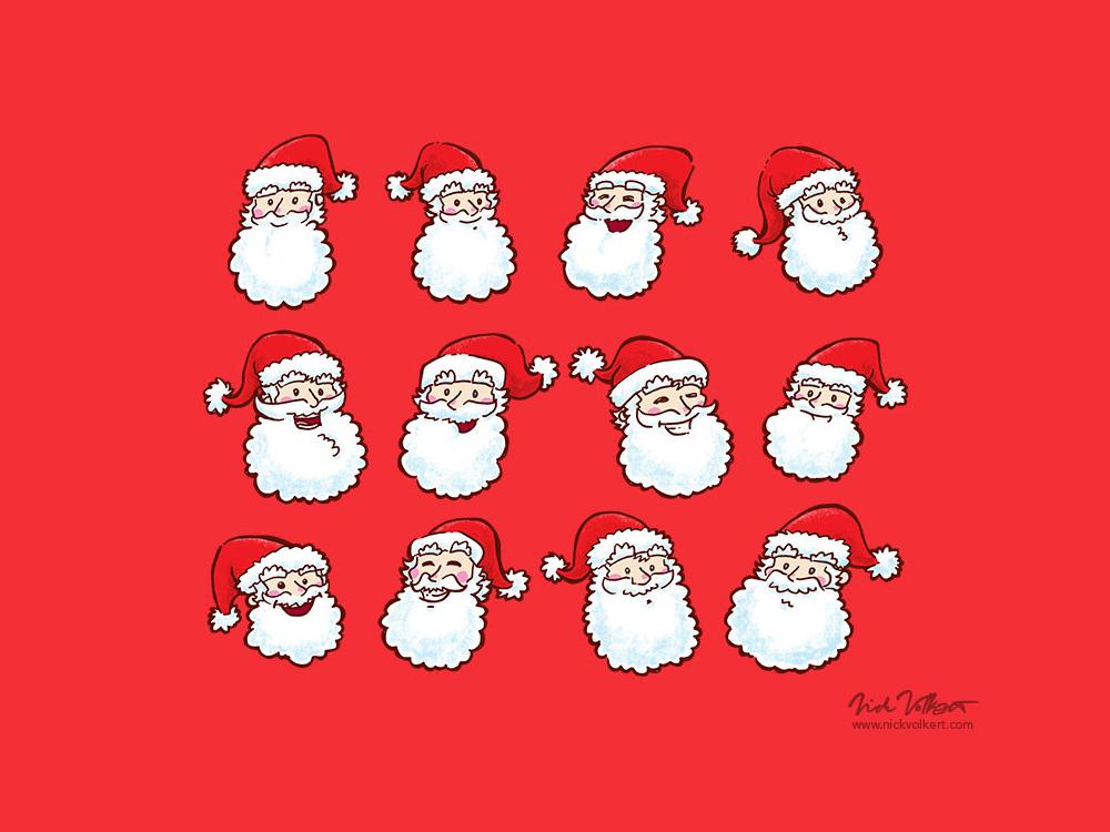 12 Santas