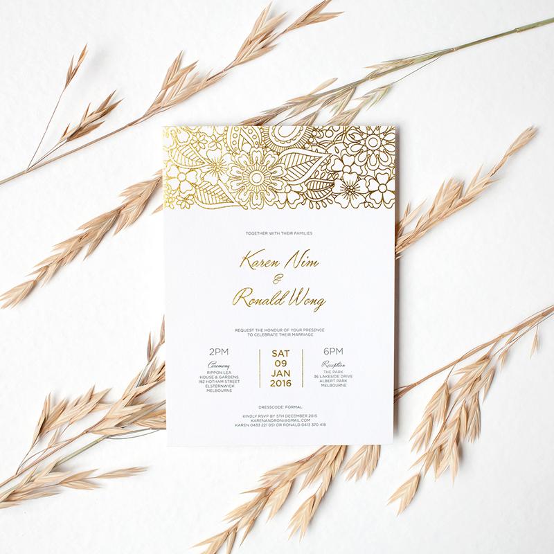 Wedding Invitation By Elizabeth Graciela
