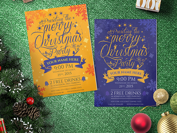 Christmas Party Fliers