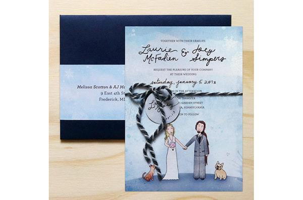 Wedding Invitation By Melissa Laine Scotton