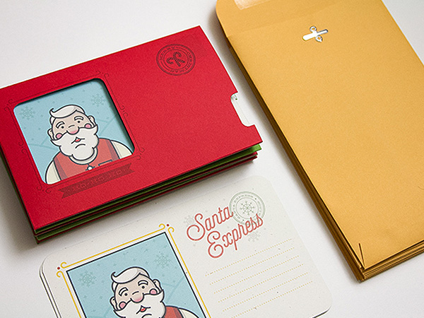 Santa Express Holiday Cards