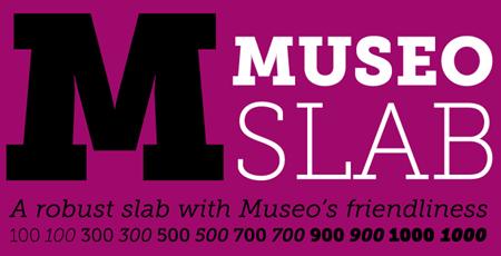 museo slab font