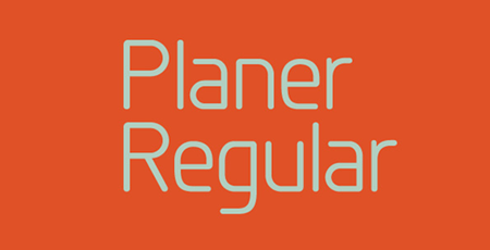 planer regular font