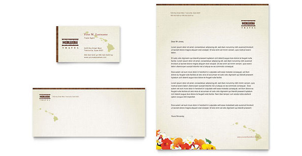 travel business with letterheads 2