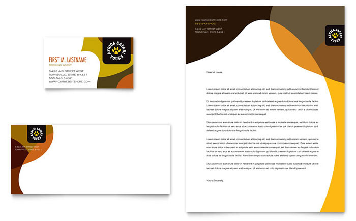 travel business with letterheads 3