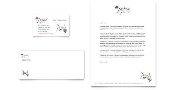 travel business with letterheads 6