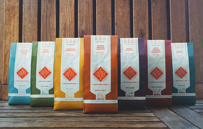 cozzee coffee brand packaging 1